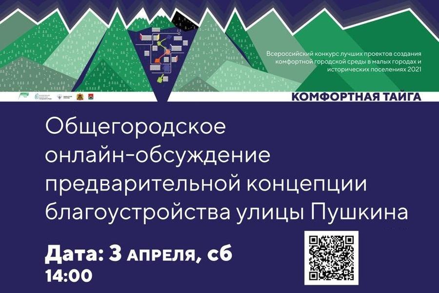 В эту субботу, 3 апреля состоится общегородская презентация предварительной концепции благоустройства улицы Пушкина.